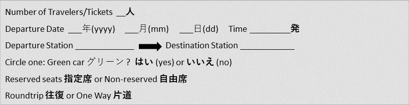 Shinkansen Form